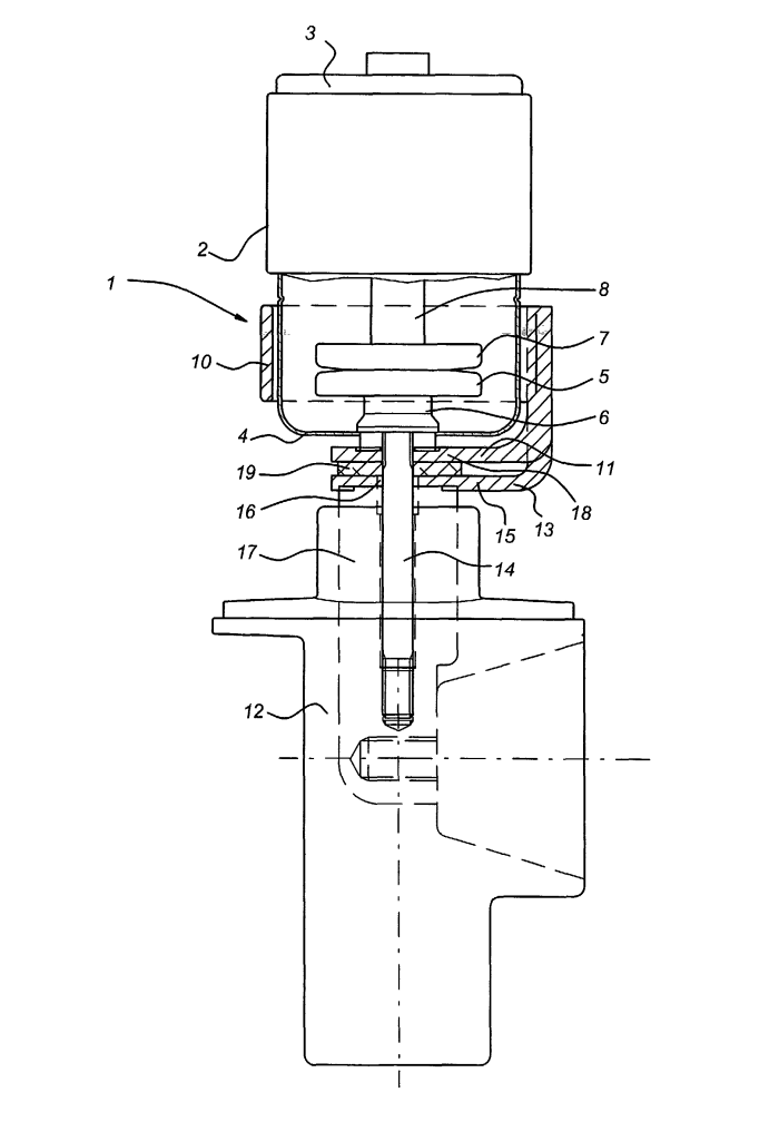 vacuum circuit breaker with coaxial coil for generating an axial magnetic field in the vicinity