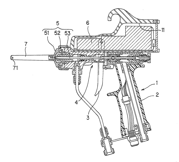 Spray Gun Drawing Spray Gun For Electrostatic