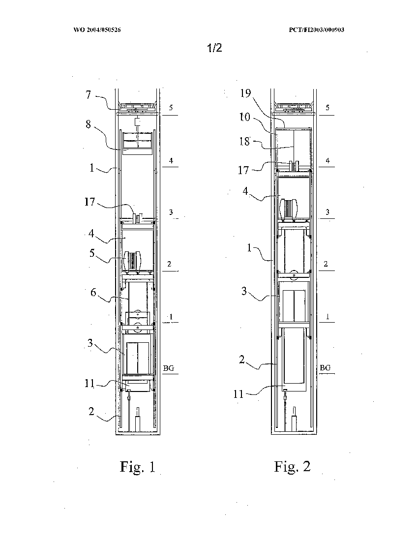 method and apparatus for installing an elevator during contruction of a building by kone