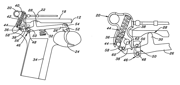 double action  hammer trigger mechanism for a firearm by