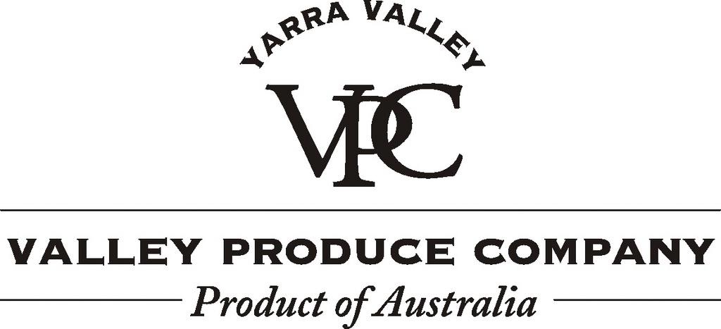 YARRA VALLEY VPC VALLEY PRODUCE COMPANY PRODUCT OF AUSTRALIA