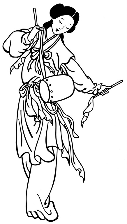 coloring pages of chinas flower - photo#34