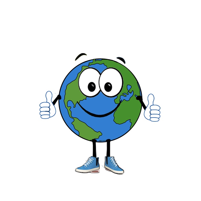GLOBE CARTOON GIVES THUMBS-UP by Milikom Pty Ltd - 1307985