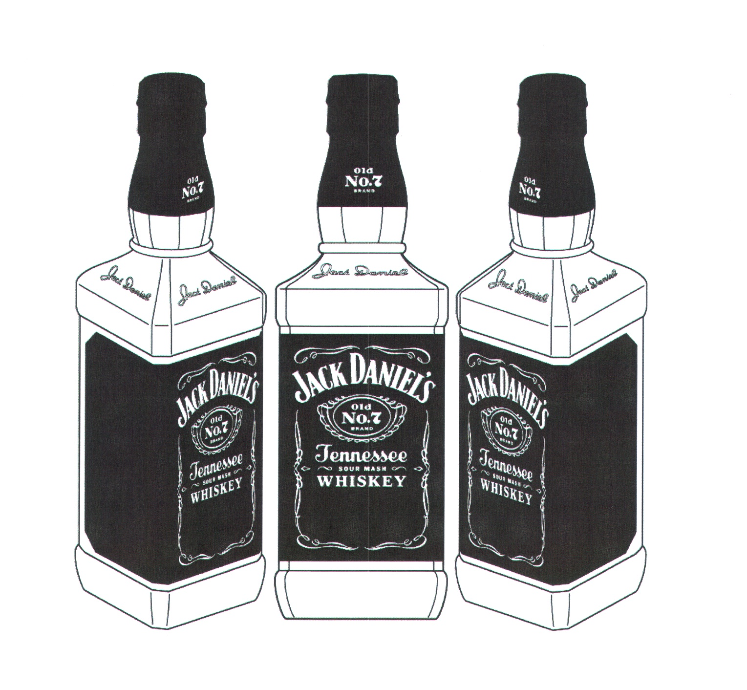 jack daniels bottle drawing - photo #7