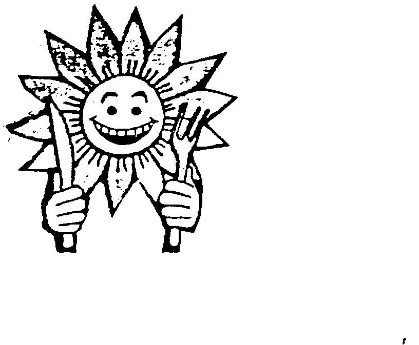 Hand Holding Fork Drawing Face Stylised Sunflower Hands Holding Knife Amp Fork Logo by Attunga Garden