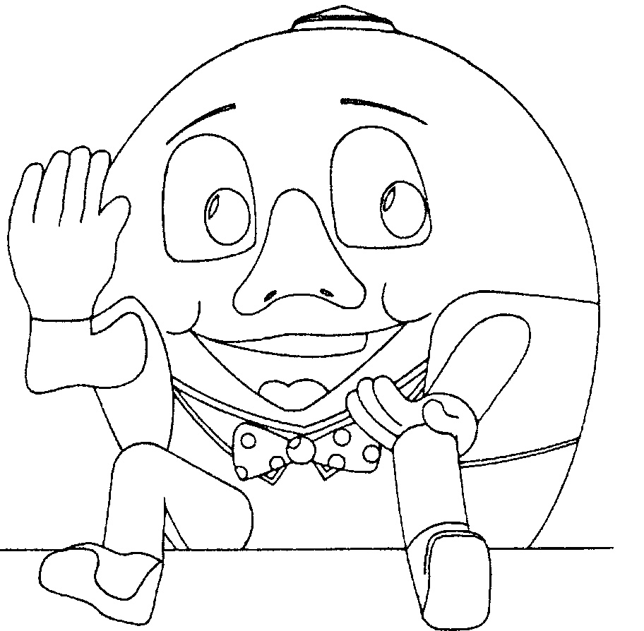 Free Coloring Pages Of Humpty Dumpty Humpty Dumpty Coloring Pages