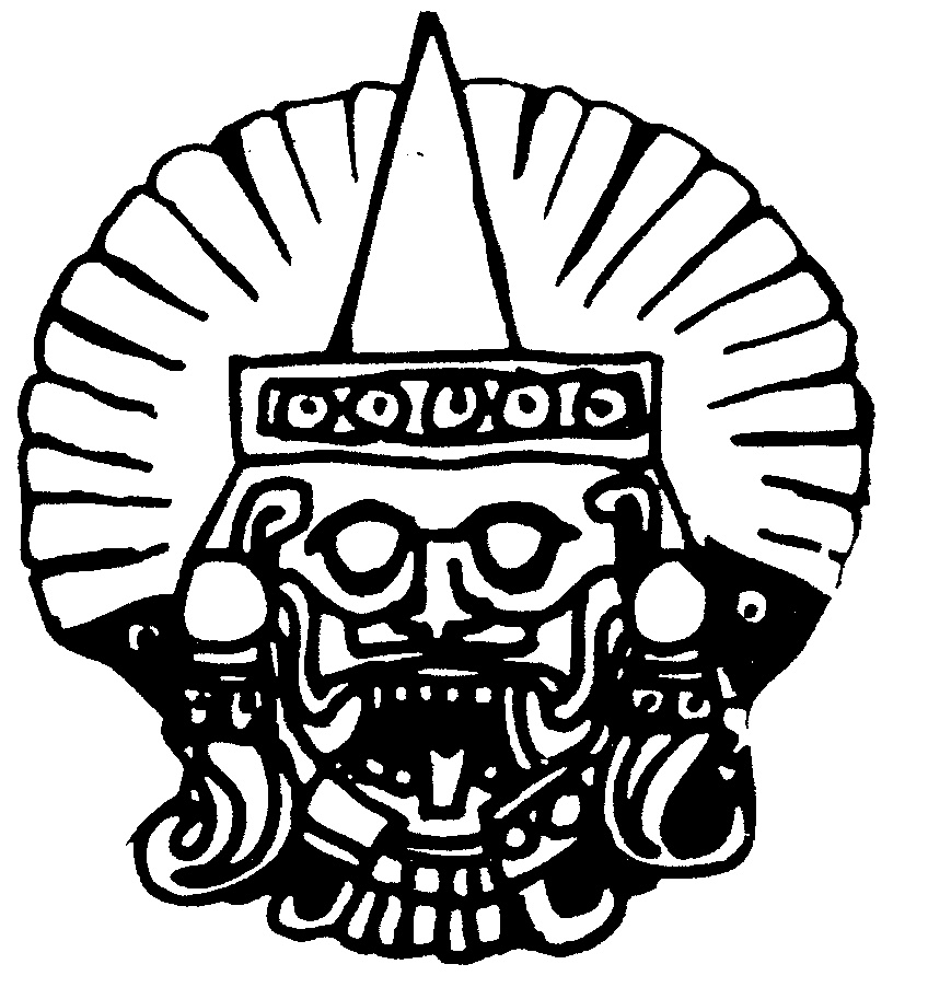 HEAD AZTEC GOD SUN RAY...