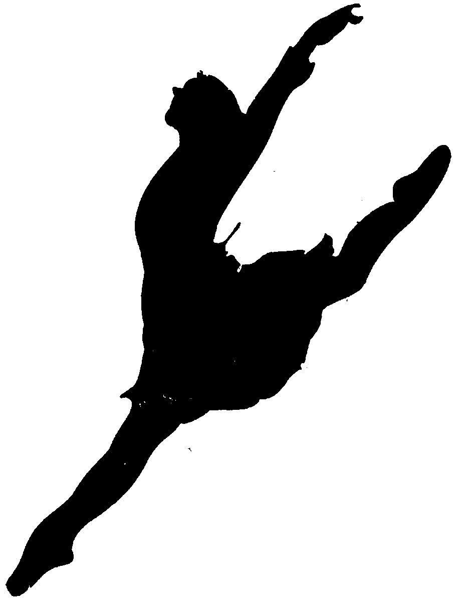 DANCER SILHOUETTE DANCING OR LEAPING logo by Desli Lynette TomlinDancer Jumping Silhouette