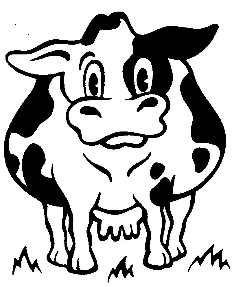 Pin Dairy Cow Coloring Pages On Pinterest