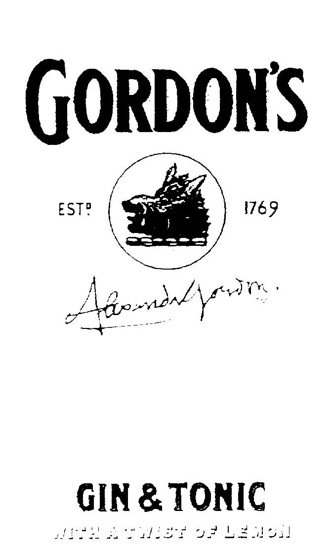 Gordons Sloe Gin >> GORDON'S GIN & TONIC WITH A TWIST OF LEMON ESTD 1769 ALEXANDER GORDON by Diageo Brands B.V. - 750197