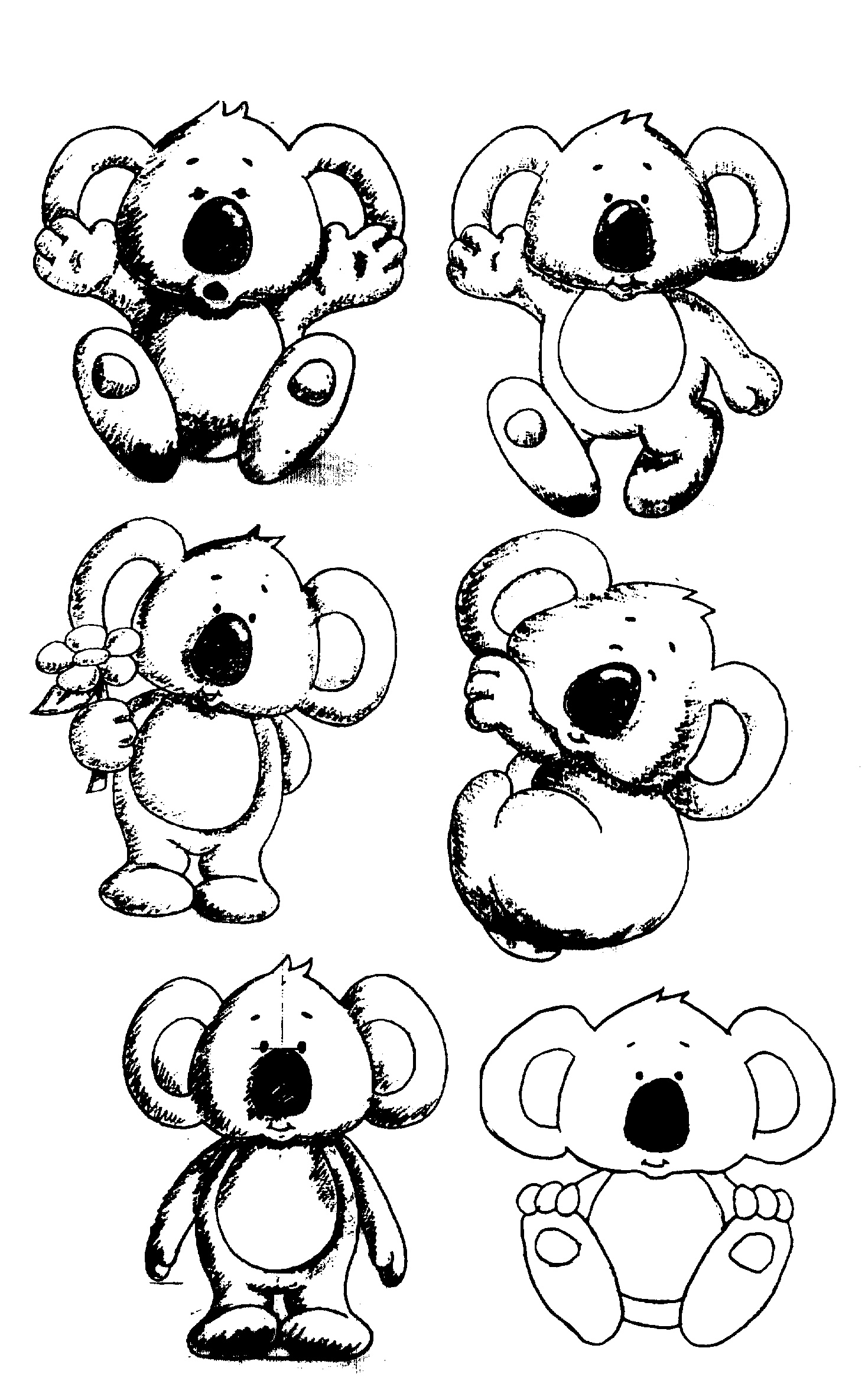 Line Drawing Koala : Line drawing koala how to draw a head drawingforall