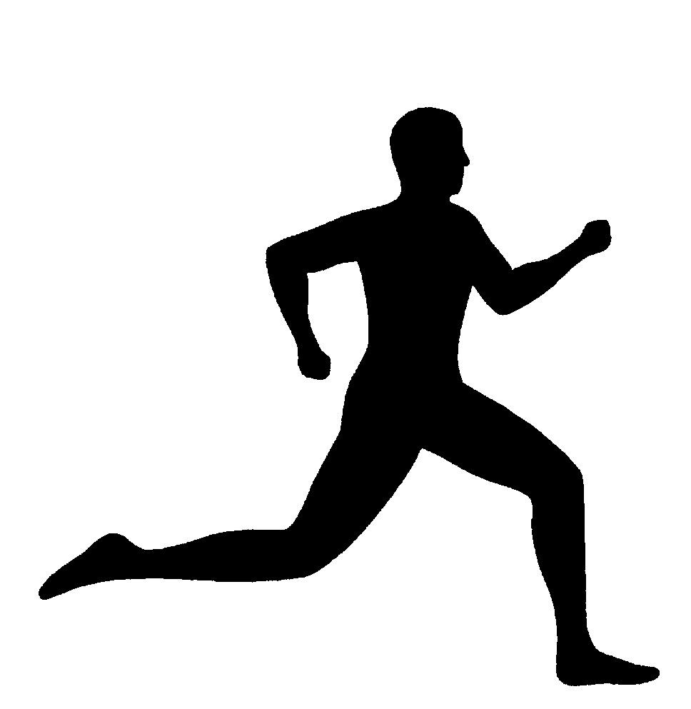Intellectual Property Clip Art: SILHOUETTE OF MAN RUNNING By Emmanuel Kappadais