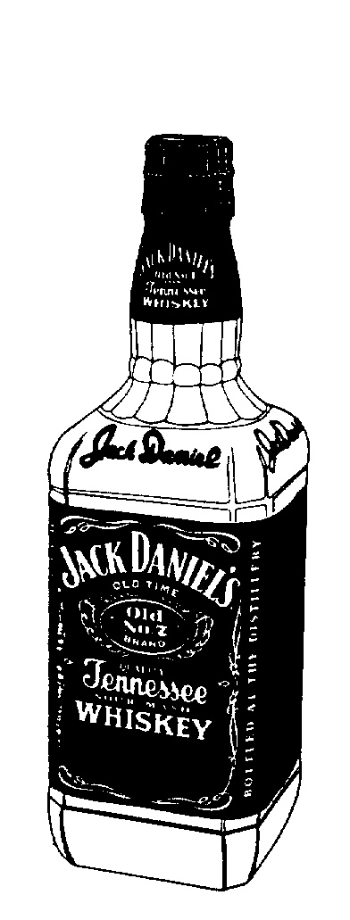 jack daniels bottle drawing - photo #6