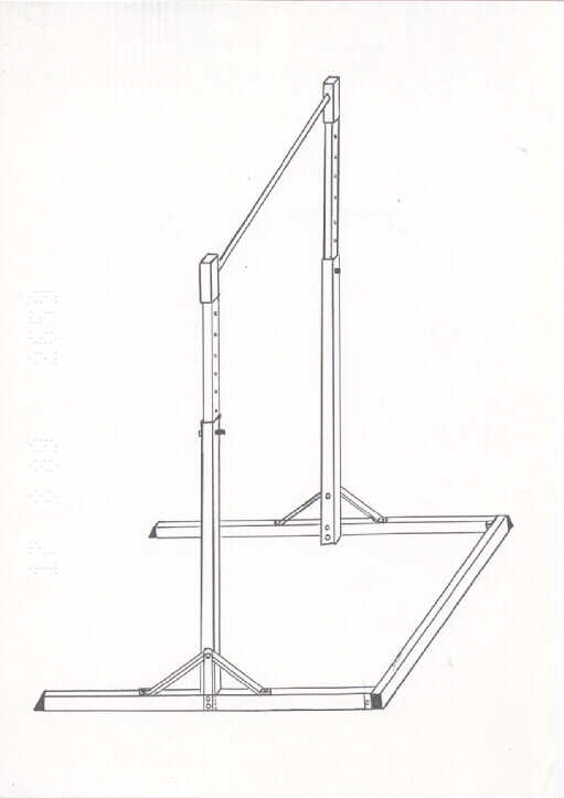 Free standing adjustable chin up bar by david stanley john for Free standing bar plans