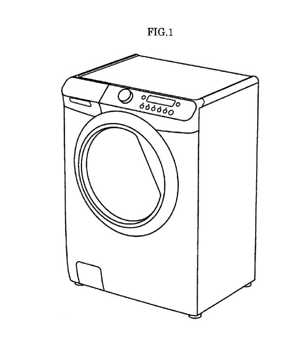 Washing Machine Drawing ~ A washing machine with clothing dryer by kabushiki